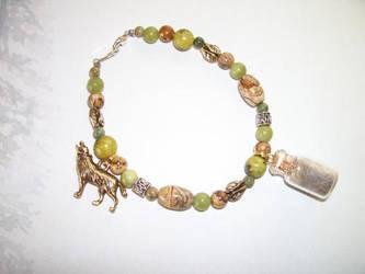 Gray Wolf Springtime Spirit Charm Bracelet by DaybreaksDawn