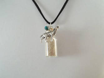 Timber Wolf Istas Spirit Totem Pendant -Sold- by DaybreaksDawn