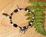 Midnight Sky Black Wolf Spirit Bracelet by DaybreaksDawn