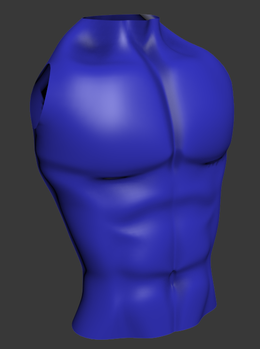 Male torso by 3DPad