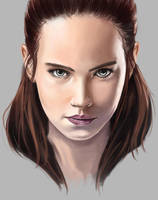 Daisy Ridley the last jedi by SmallTitan