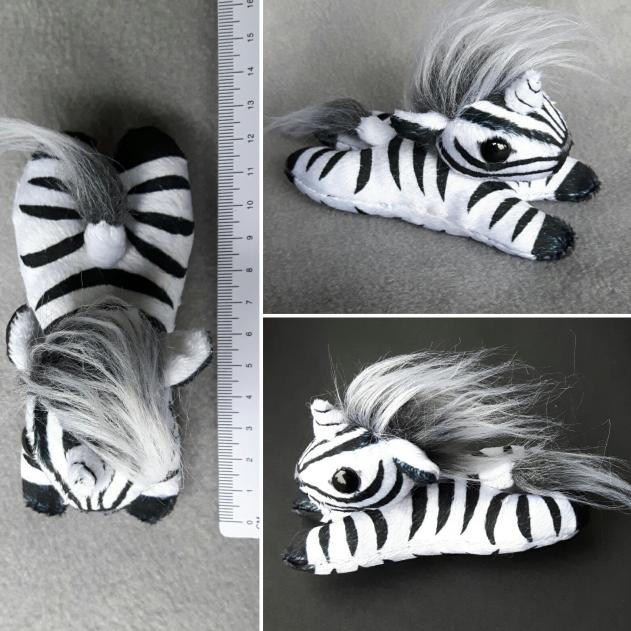 Zebra Unicorn Beany Plushie by Lolilith