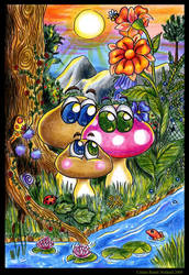 Where Mushrooms are Happy by Xenonia