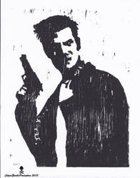Max Payne wood print by CZProductions