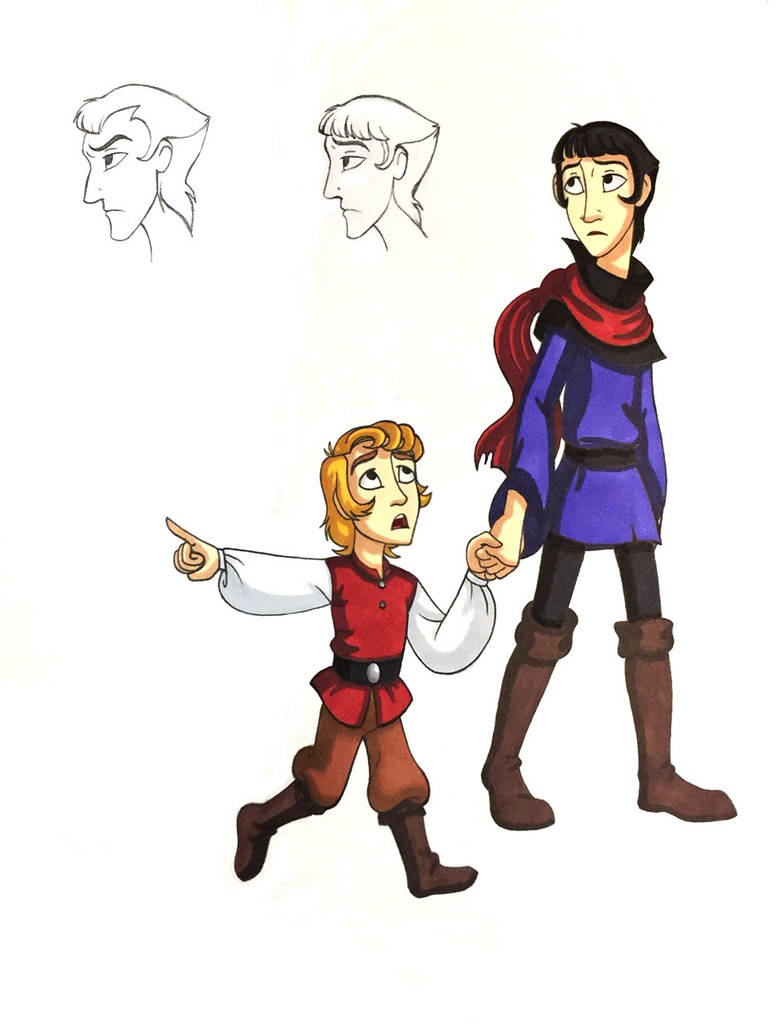 Young Claude and Jehan Frollo by WhiteFangKakashi300
