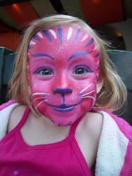 Facepaint - Pink Cat by GraphiteGhost