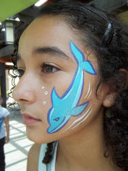 Facepaint - Dolphin by GraphiteGhost
