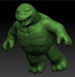 ZBrush Turtle 1 by GraphiteGhost