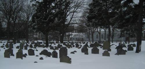 Graveyard Snowfall by JesIdres