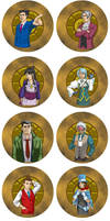 Phoenix Wright Buttons! by JesIdres