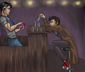 Even a Doctor needs a Drink by JesIdres