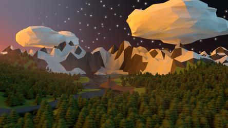Geometric mountains II by viechacik