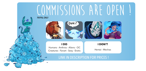 COMMISSIONS OPEN - 1 SLOT AVAILABLE by Llythium-art