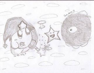 Star Rod Kirby vs. Dark Matter by rainbowkirby
