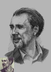 Nicolas Cage by Sabriiistrash