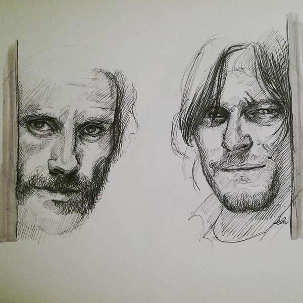 WIP of Rick and Daryl by Sabriiistrash
