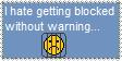 I hate unwarned blockings by FluffyFerret97