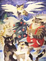 Xmas Cats by Zainy7
