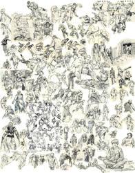 Parkour/Action Pose Dump by Pen-scribble