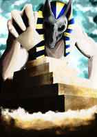 Giant Anubis by creationbegins