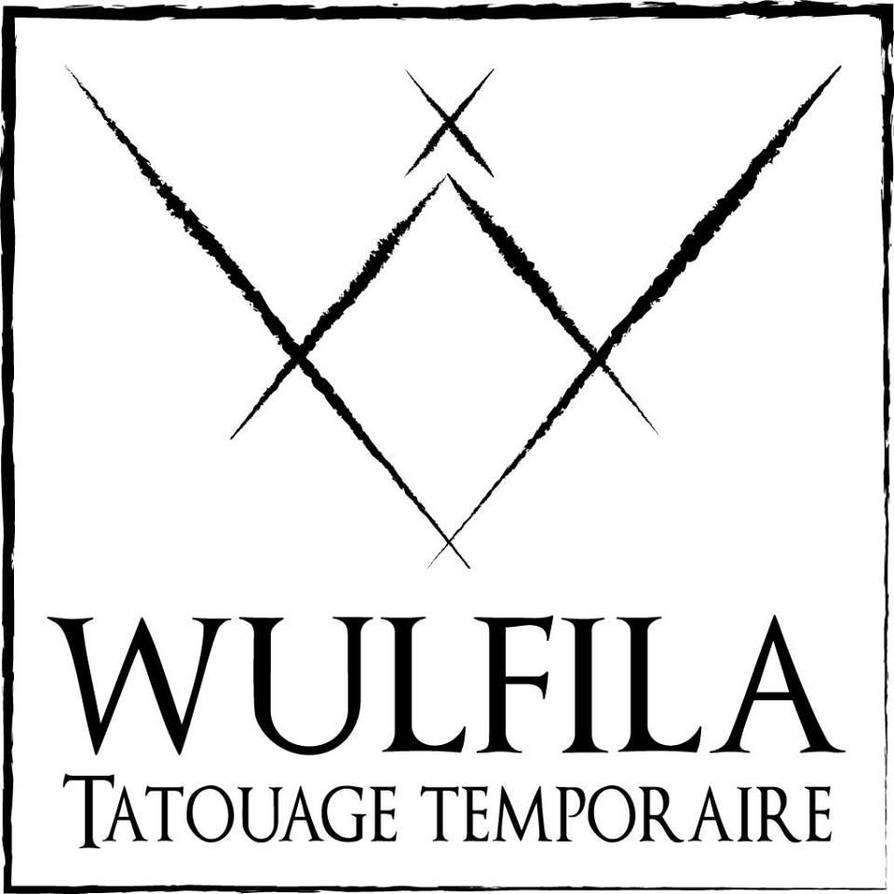 Logo Wulfila Tatouage Temporaire by creationbegins