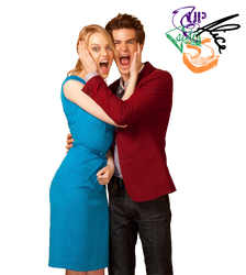 EmmaStone and AndrewGarfield PNG by upsidedownalice
