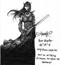 Elven female warrior by asphyx0r