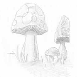 Fantasy Shrooms by firefly-R