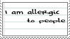 I'm Allergic Stamp by UnknownPixels