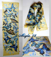 Silk scarf 'Butterflies' by MigleMigla