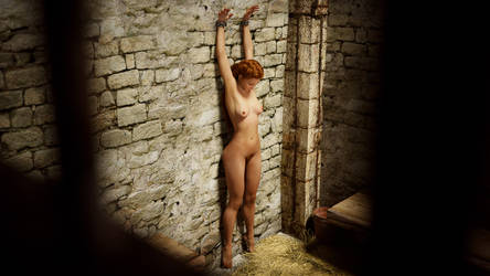 Margie in cell chained to the wall by FunFictionArt