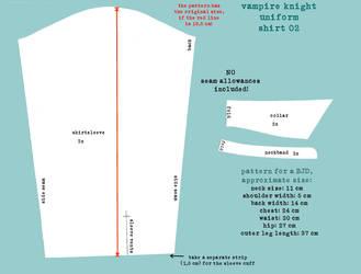 Vampire Knight Uniform Pattern Shirt 2 by DemonViridian