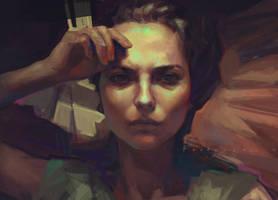 Selfportrait_2 by alexandrafastovets