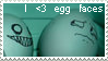 I love Egg Faces Stamp by fantasyreverie