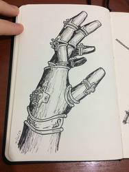 Steampunk robot hand by hhsaez