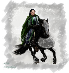 Loki Ride in the snow by LadyMintLeaf