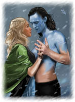 Loki and Sigyn - jotunheim by LadyMintLeaf