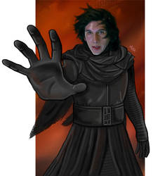 Kylo Ren - Force by LadyMintLeaf