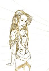 Steampunk Elf Lineart by Vanaliel