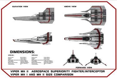 Viper MK II Blueprints MKI, MKII Size Comparison by viperaviator