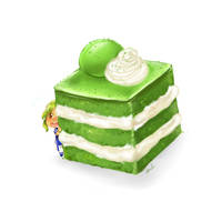 Matcha Cake by Geminid