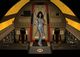 SPACE 1999 Coryn Vaisse pilot on eagle 5. by EcorynV