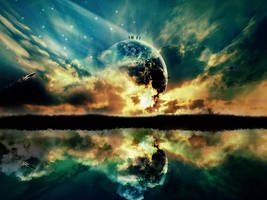 Mystical sunset by HateMind