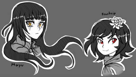Frostnip and Mayu 2018 sketch by Ric-M
