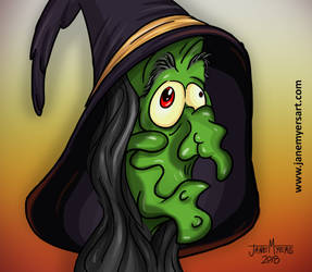 Cartoon Witch Doodle by janemyers