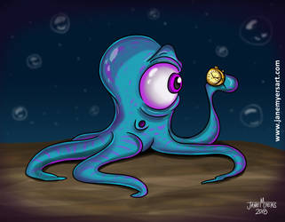 Space Octopus creature by janemyers