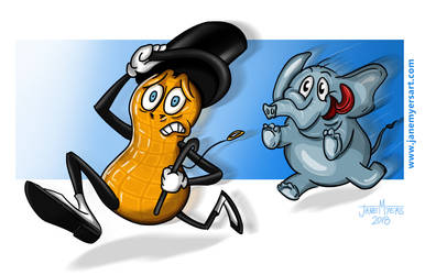 Mr.Peanut Elephant Chase by janemyers