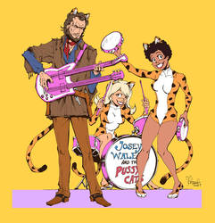 Josey Wales and the Pussycats by spacecoyote