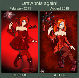 DRAW THIS AGAIN - Natalie from Epic Battle Fantasy by Shoko-art