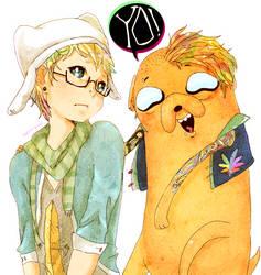 Tumblr Finn and Jake by Pasuteru-Usagi